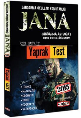 2015 JANA Jandarma Astsubay Temel Kursu Giriş Sınavı Çek Kopart Yaprak Test Arge Yayınları