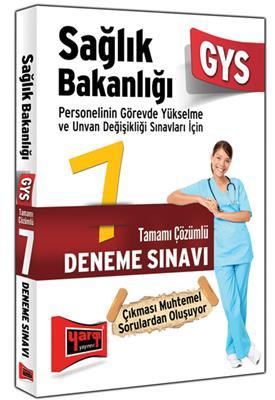 GYS Sağlık Bakanlığı Tamamı Çözümlü 7 Deneme Sınavı Yargı Yayınları