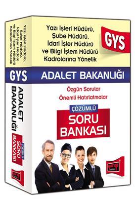 2015 GYS Adalet Bakanlığı Yazı İşleri,Şube ve İdari İşler Müdürü İçin Çözümlü Soru Bankası Yargı Yay