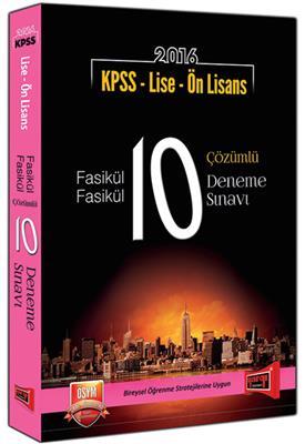 Yargı Yayınları 2016 KPSS Lise Ön Lisans Fasikül Fasikül 10 Çözümlü Deneme