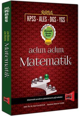 Yargı Yayınları 2016 KPSS ALES DGS YGS LYS için Adım Adım Matematik