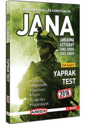 Arge Yayınları 2016 JANA Yaprak Test