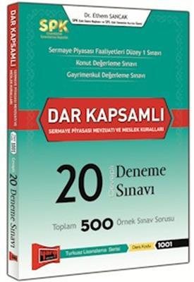 SPK Dar Kapsamlı Sermaye Piyasası Mevzuatı Meslek Kuralları Cevaplı 20 Deneme Sınavı Yargı Yayınları