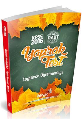 2016 İhtiyaç Yayınları ÖABT İngilizce Yaprak Test