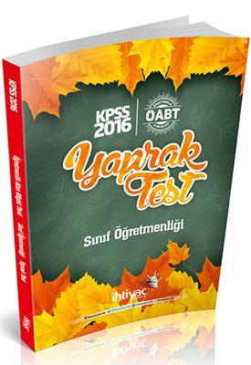 2016 İhtiyaç Yayınları ÖABT Sınıf  Çek Kopart Yaprak Test