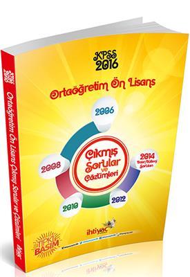2016 İhtiyac Yayınları KPSS Ortaögretim Ön Lisans 2006 2014 Sorular
