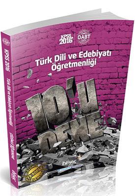 2016 ÖABT Türk Dili ve Edebiyatı Deneme İhtiyaç Yayınları