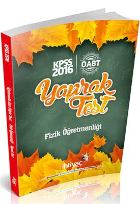 2016 ÖABT Fizik Çek Kopart Yaprak Test İhtiyaç Yayınları