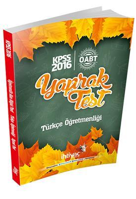 2016 İhtiyaç Yayınları ÖABT Türkçe Yaprak Test