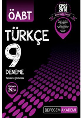 ÖABT Türkçe 9 Deneme Tamamı Çözümlü  Pegem Yayınları