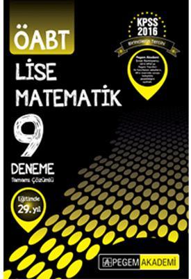 ÖABT Lise Matematik Tamamı Çözümlü 9 Deneme Pegem Yayınları