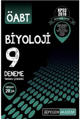 2016 ÖABT Biyoloji Tamamı Çözümlü 9 Deneme Sınavı Pegem Yayınları