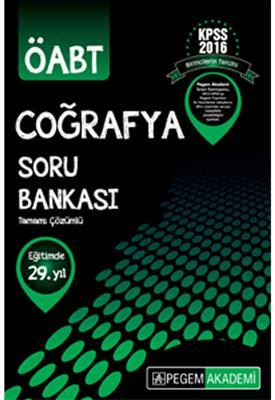 Pegem Yayınları  ÖABT Coğrafya Tamamı Çözümlü Soru Bankası