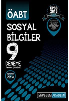 Pegem Yayınları 2016 ÖABT Sosyal Bilgiler Tamamı Çözümlü 9 Deneme