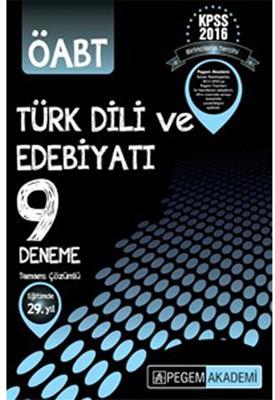 Pegem Yayınları 2016 ÖABT Türk Dili ve Edebiyatı Çözümlü 9 Deneme