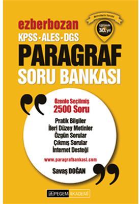 Pegem Yayınları 2016 KPSS ALES DGS Ezberbozan Paragraf Soru Bankası