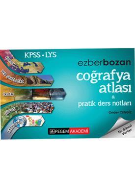 KPSS LYS Ezborbozan Coğrafya Atlası Pratik Ders Notları 2016 Pegem Yayınları