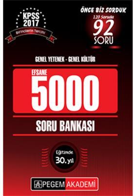 2017 KPSS BEŞBİN EFSANE Soru Bankası Pegem Yayınları