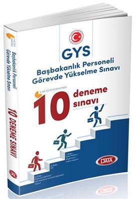 GYS Başbakanlık Personeli Görevde Yükselme Sınavı 10 Deneme Sınavı Data Yayınları