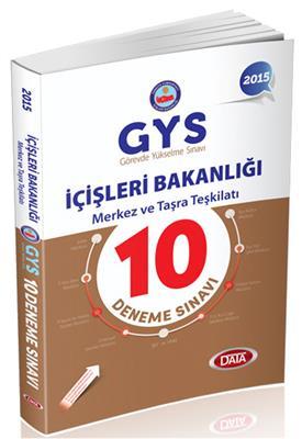 GYS İçişleri Bakanlığı Merkez ve Taşra Teşkilatı 10 Deneme Sınavı Data Yayınları