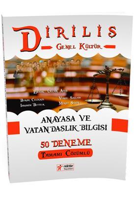 KPSS Diriliş Anayasa ve Vatandaşlık Bilgisi Tamamı Çözümlü 50 Deneme  Rektör Yayınları