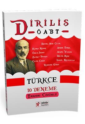 Rektör Yayınları ÖABT Türkçe Diriliş Tamamı Çözümlü 10 Deneme