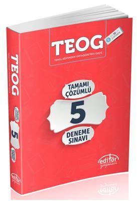 8.Sınıf TEOG 2.Dönem Tamamı Çözümlü 5 Deneme Editör Yayınları