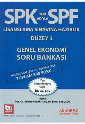2015 SPF Lisanslama Düzey 3 Genel Ekonomi Soru Bankası Akademi Yayınları