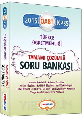 2016 ÖABT  Yediiklim Yayınları Türkçe Öğretmenliği Tamamı Çözümlü Soru Bankası