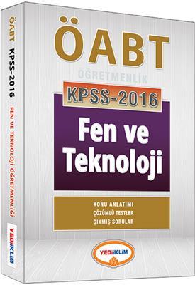 2016 Yediiklim Yayınları ÖABT Fen ve Teknoloji Konu Anlatımlı