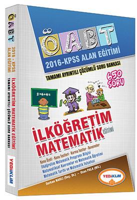 2016 Yediiklim Yayınları  ÖABT Matematik Tamamı Çözümlü Soru Bankası