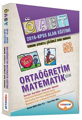 Yediiklim Yayınları 2016 OABT Ortaögretim Matematik Tamamı Çözümlü Soru Bankası
