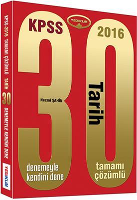 Yediiklim Yayınları 2016 KPSS Tarih Tamamı Çözümlü 30 Deneme
