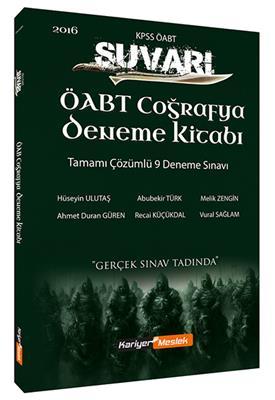 ÖABT Coğrafya Süvari Tamamı Çözümlü 9 Deneme Kitabı Kariyer Meslek Yayınları