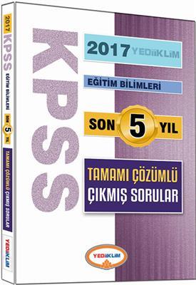 2017 KPSS Eğitim Son 5 Yıl Tamamı  Çözümlü Çıkmış Sorular Yediiklim Yayınları