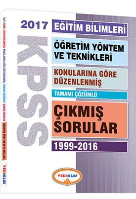 KPSS Eğitim Öğretim Yöntem ve Teknikleri Konularına Göre Düzenlenmiş Tamamı  2017 Yediiklim Yayınlar