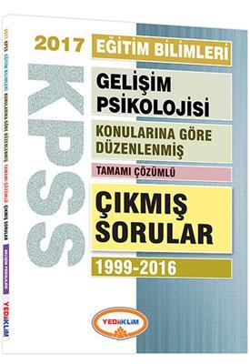 KPSS Eğitim Gelişim Psikolojisi  Konularına Göre Düzenlenmiş 2017 Çıkmış Sorular Yediiklim Yayınları
