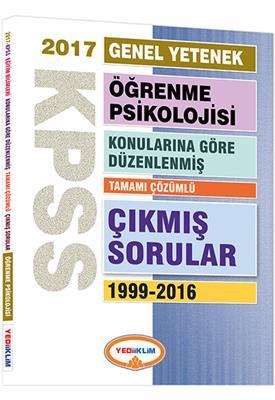 KPSS Eğitim Öğrenme Psikolojisi Konularına Göre Düzenlenmiş Çıkmış Sorular 2017 Yediiklim Yayınları