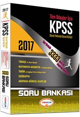 Yediiklim Yayınları 2017 KPSS Genel Kültür Genel Yetenek 3333 Soru Bankası
