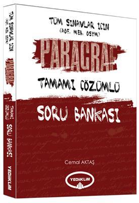 Tüm Sınavlar için Paragraf Tamamı Çözümlü Soru Bankası Yediiklim Yayınları