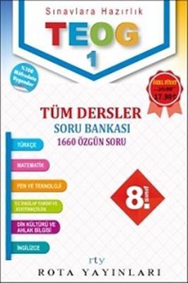 Rota Yayınları 8. Sınıf TEOG 1 Tüm Dersler Soru Bankası