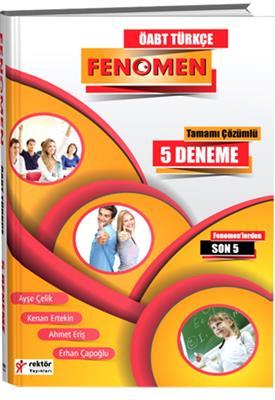 ÖABT Türkçe Fenomen Tamamı Çözümlü 5 Deneme  Rektör Yayınları