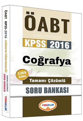 Yediiklim Yayınları 2016 ÖABT Cografya  Tamamı Çözümlü Soru Bankası