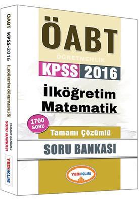 Yediiklim Yayınları 2016 ÖABT İlköğretim Matematik Tamamı Çözümlü Soru Bankası