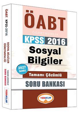 Yediiklim Yayınları 2016 ÖABT Sosyal Tamamı Çözümlü Soru Bankası