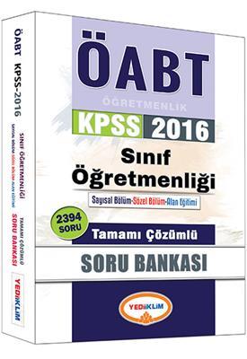 Yediiklim Yayınları 2016 ÖABT Sınıf Tamamı Çözümlü Soru Bankası