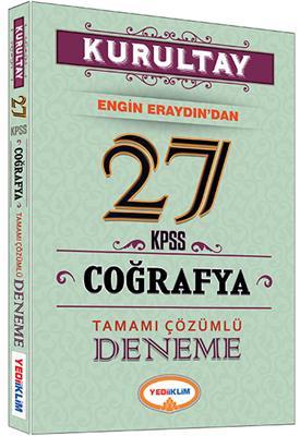 KPSS KURULTAY Coğrafya Tamamı Çözümlü 27 Deneme 2016 Yediiklim Yayınları