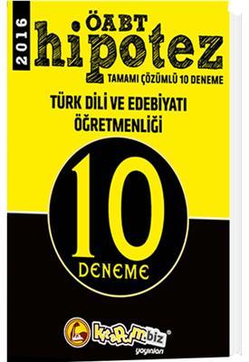 ÖABT Hipotez Türk Dili ve Edebiyatı  Çözümlü 10 Deneme Kitapcım Yayınları