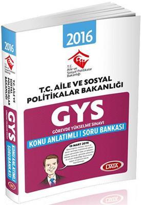 GYS Aile ve Sosyal Politikalar Konu Anlatımı Soru Bankası  Data Yayınları