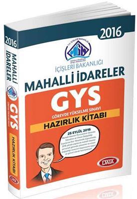 GYS İçişleri Bakanlığı Mahalli İdareler Hazırlık Kitabı 2016  Data Yayınları